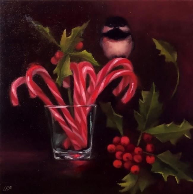 """Secret Santa"" original fine art by Christine E. S. Code"