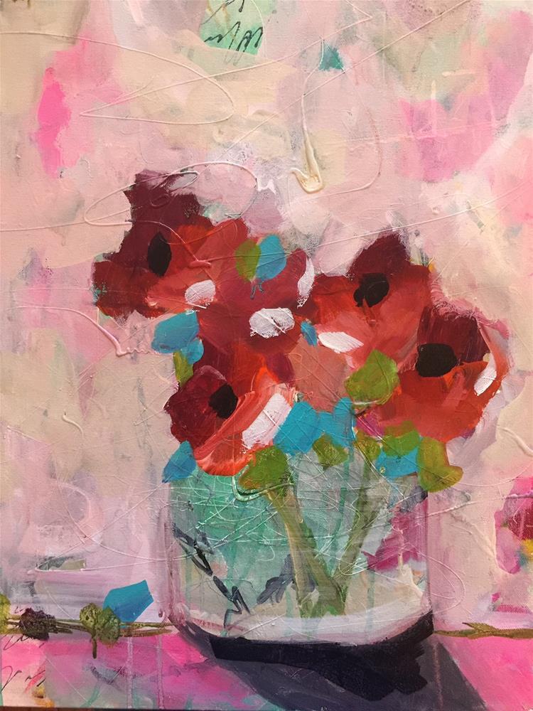 """""""388 Getty Flowers"""" original fine art by Jenny Doh"""