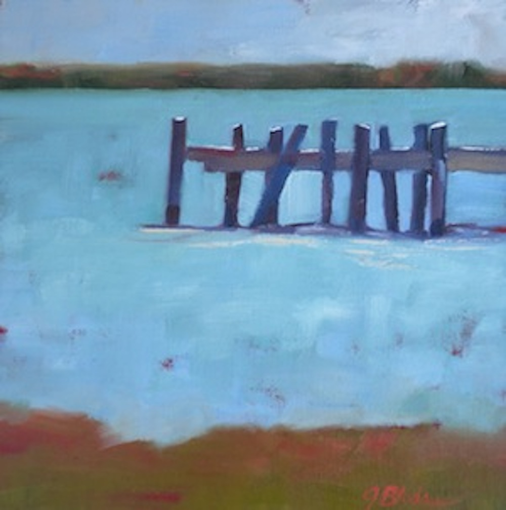 """Southern Dock"" original fine art by Janet Bludau"