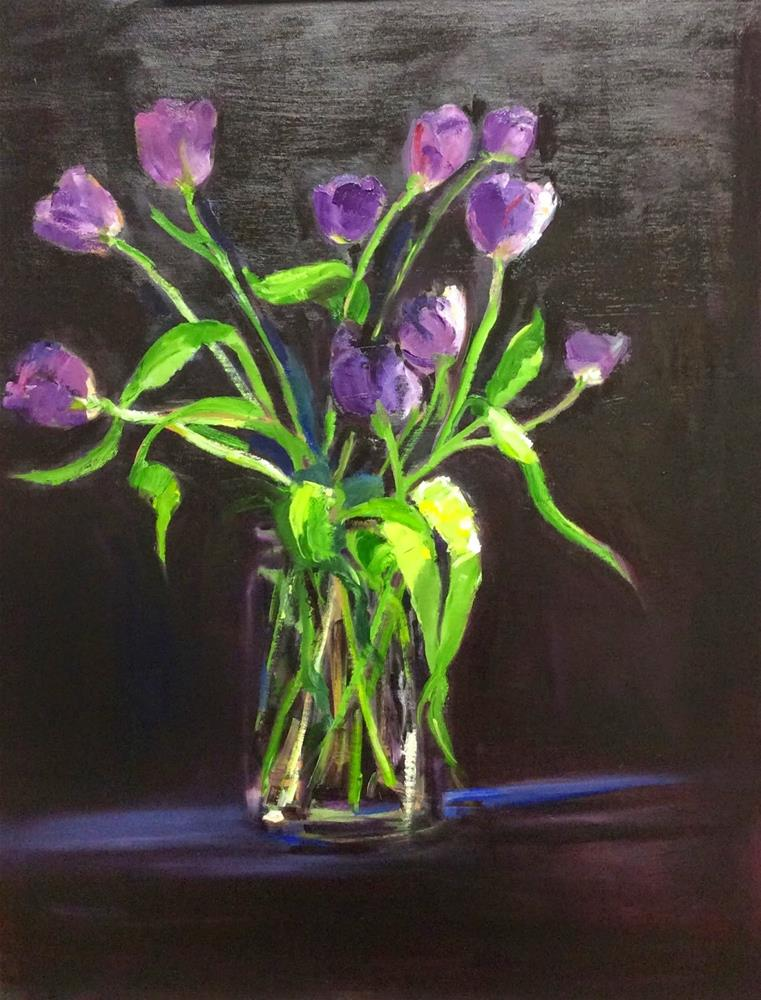 """""""Tulips Two"""" original fine art by Peggy Schumm"""