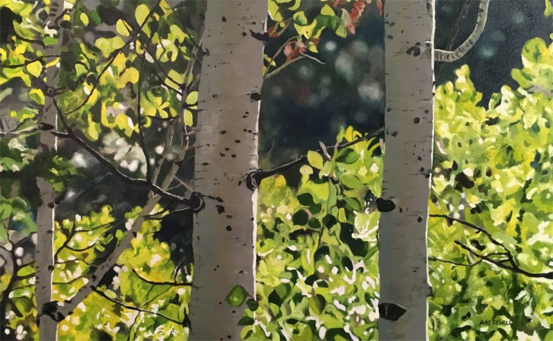 """""""Forest Symphony"""" original fine art by Andy Sewell"""