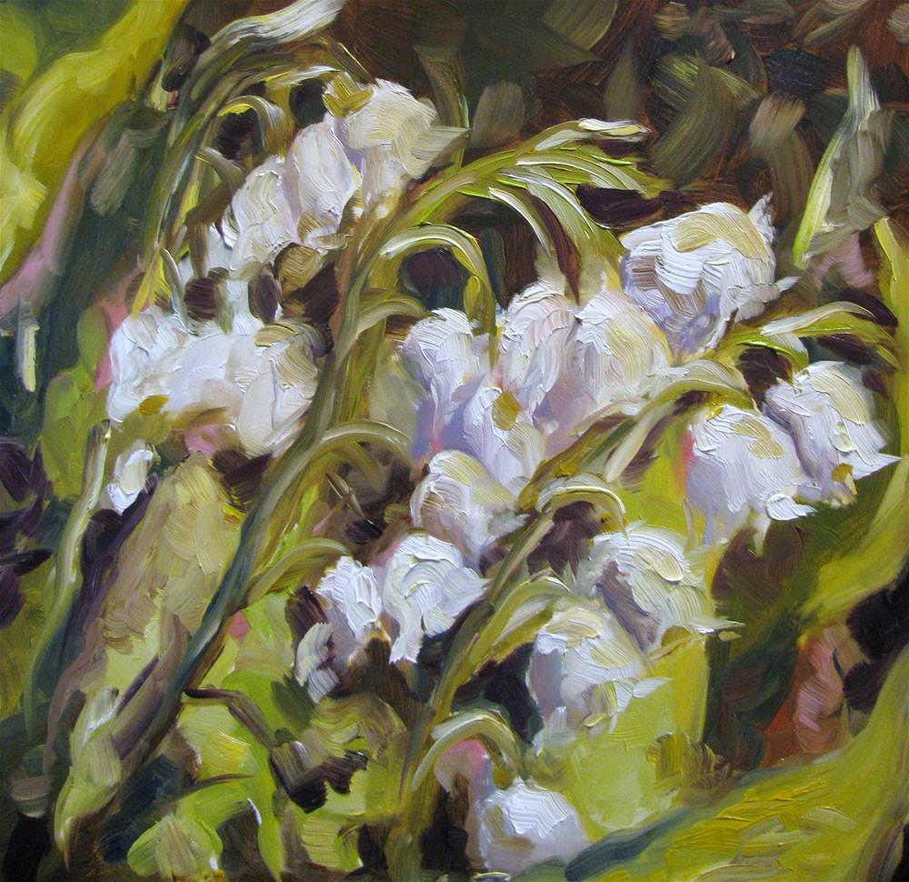 """Lily of the Valley"" original fine art by Susan Elizabeth Jones"