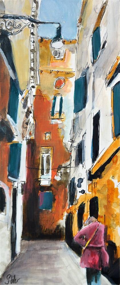 """2809 Straßenszene Venice #1"" original fine art by Dietmar Stiller"