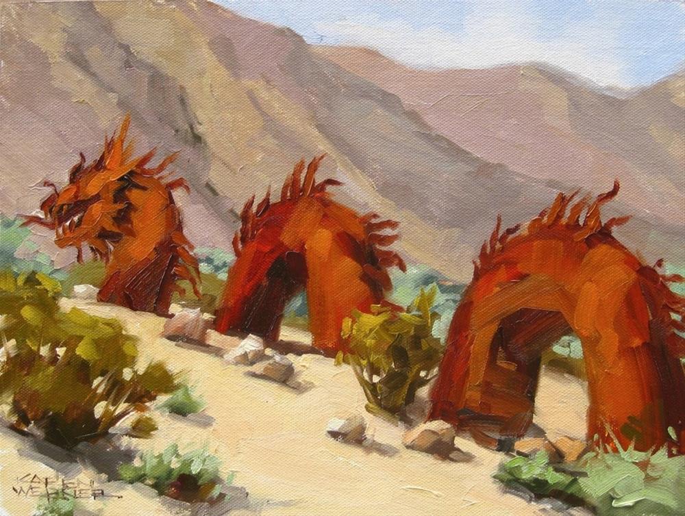 """""""Desert Dragon"""" original fine art by Karen Werner"""