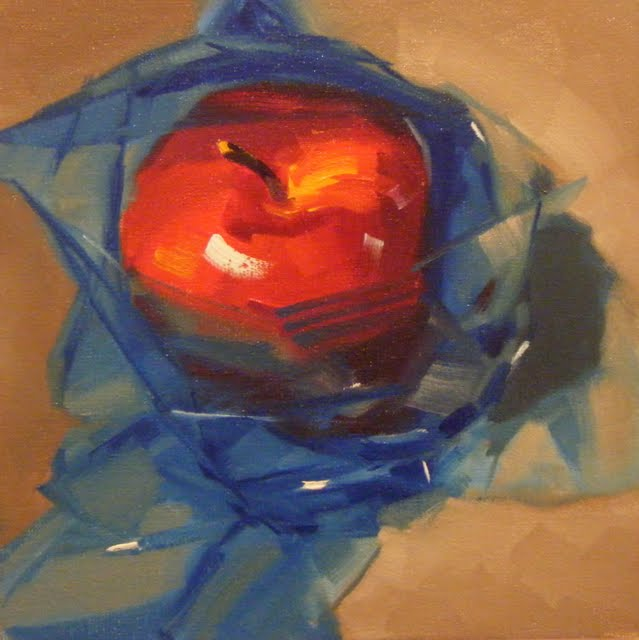 """APPLE ROYALE"" original fine art by Helen Cooper"