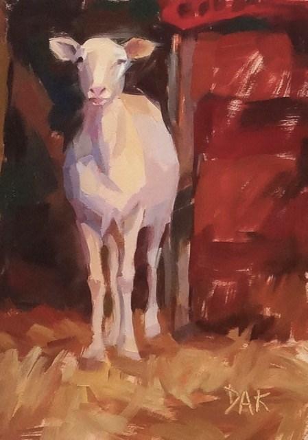 """Barnyard Goat"" original fine art by Deborah Ann Kirkeeide"