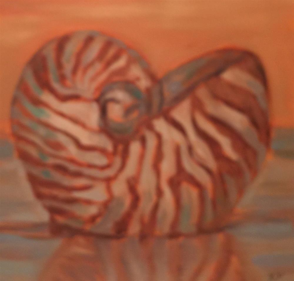 """Nautilus Shell"" original fine art by Laura Darnell"