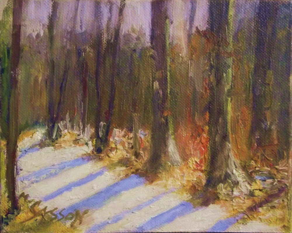 """Colorful winter day"" original fine art by Michael Sason"