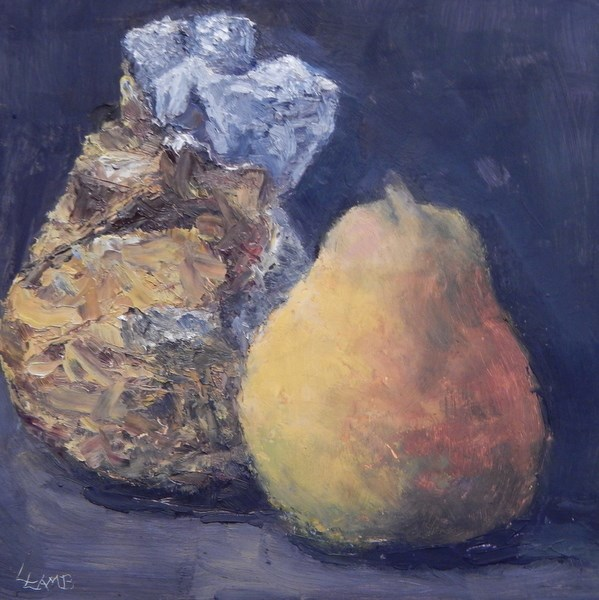"""Christmas Pears"" original fine art by Lori L. Lamb"