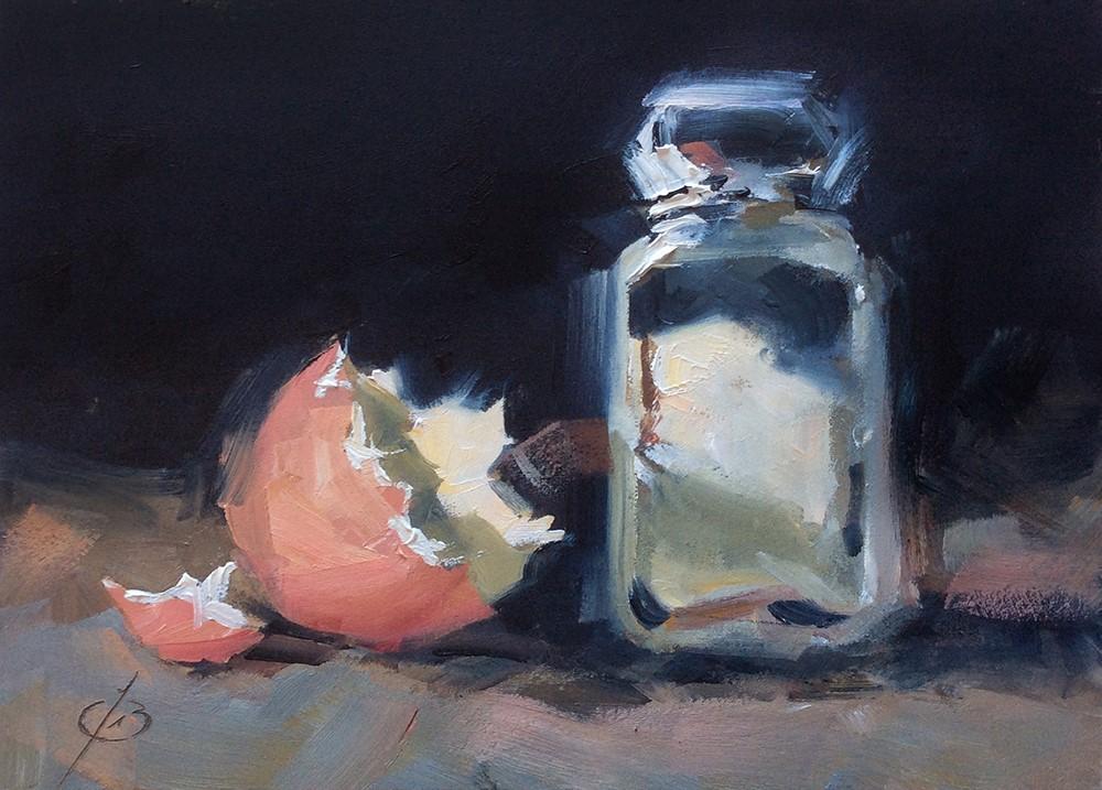 """EGGSHELL & SALT"" original fine art by Tom Brown"