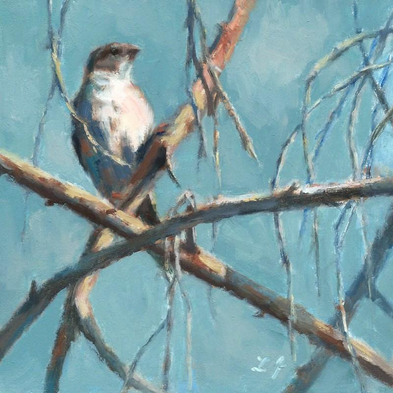 """""""Where Should I Build My Nest"""" original fine art by Linda Jacobus"""
