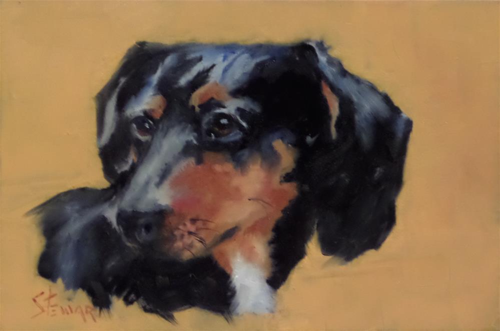 """HOT DIGGETY DOG"" original fine art by Kris Stewart"