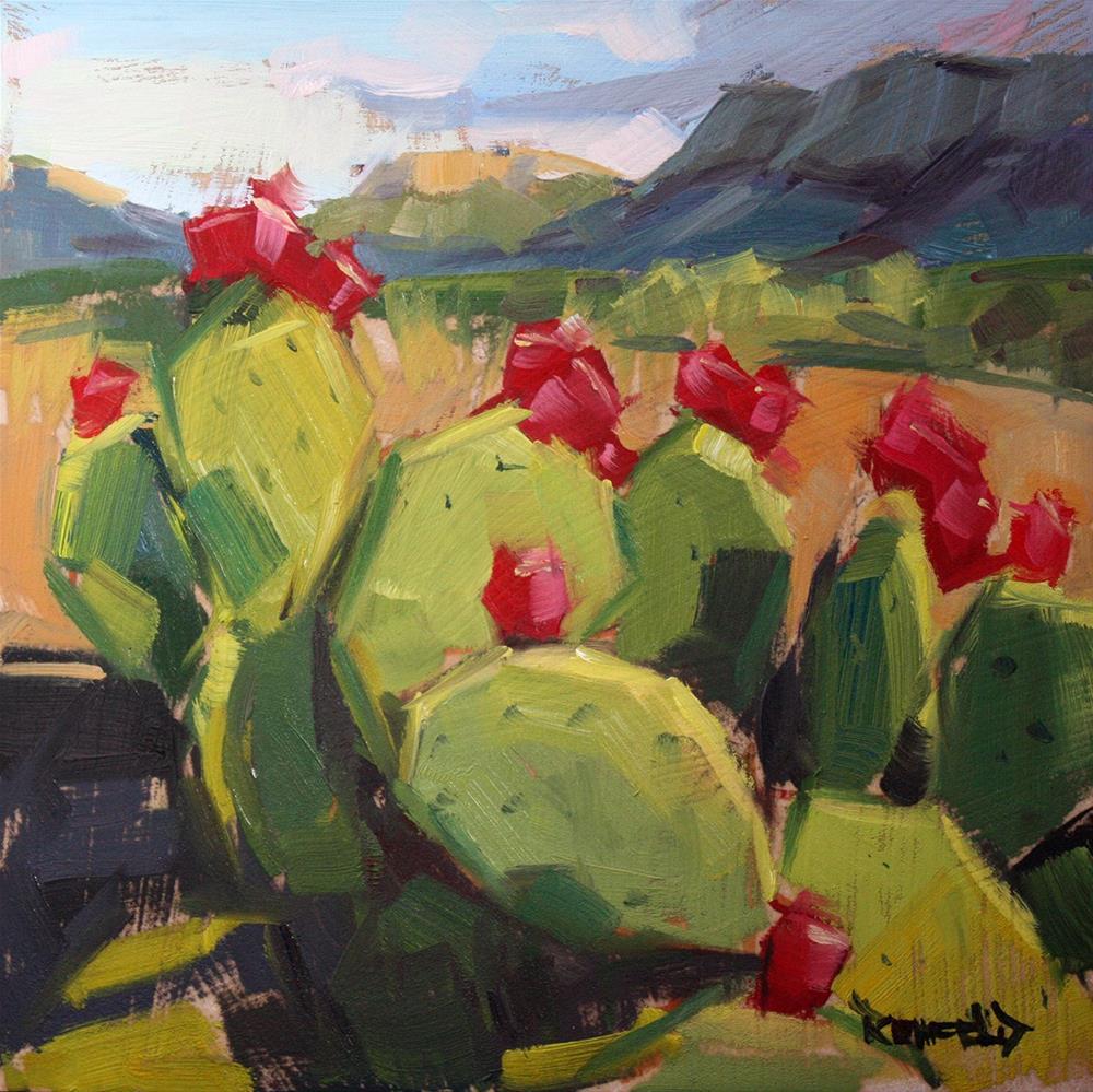 """""""Prickly Pear in Big Bend"""" original fine art by Cathleen Rehfeld"""