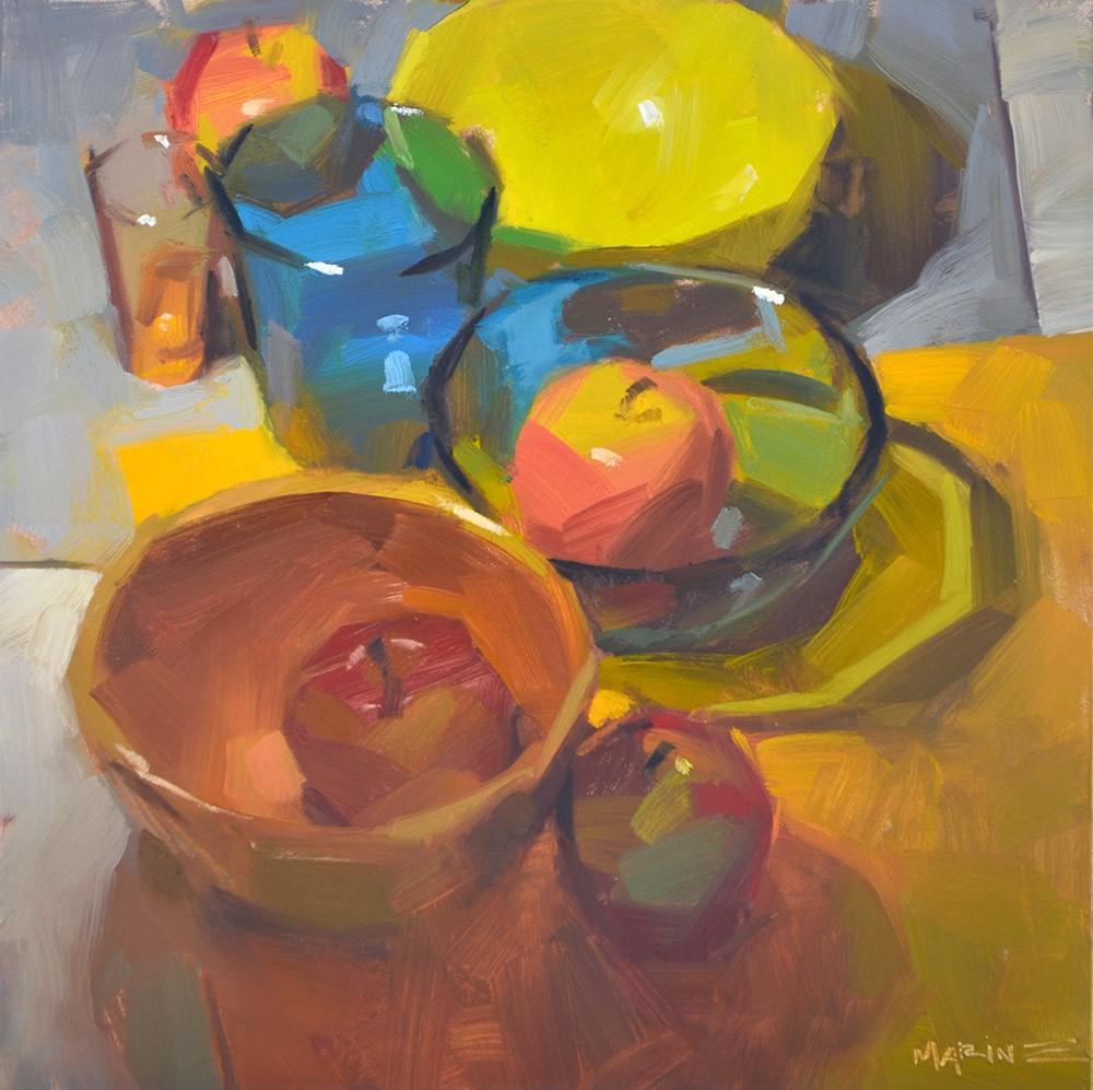 """The Procession"" original fine art by Carol Marine"