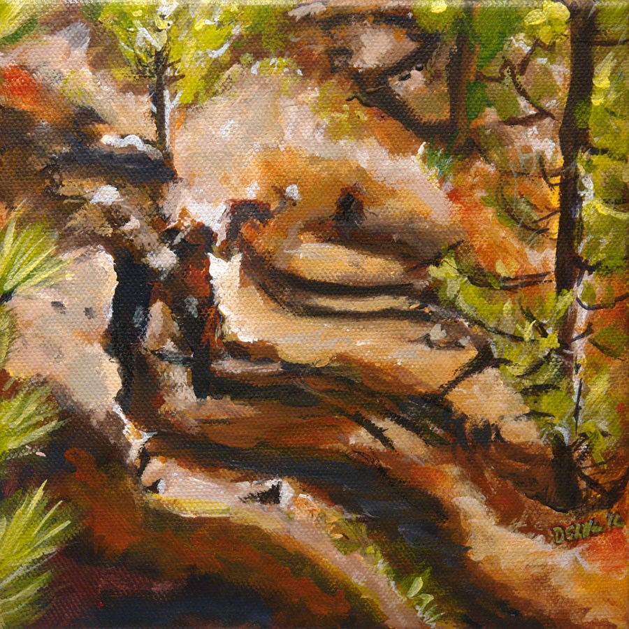 """0487 Run Forest Run - Waldrunde"" original fine art by Dietmar Stiller"