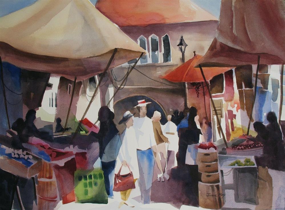 """""""Campo de  la Pescaria, Venice , Italy"""" original fine art by Jinnie May"""