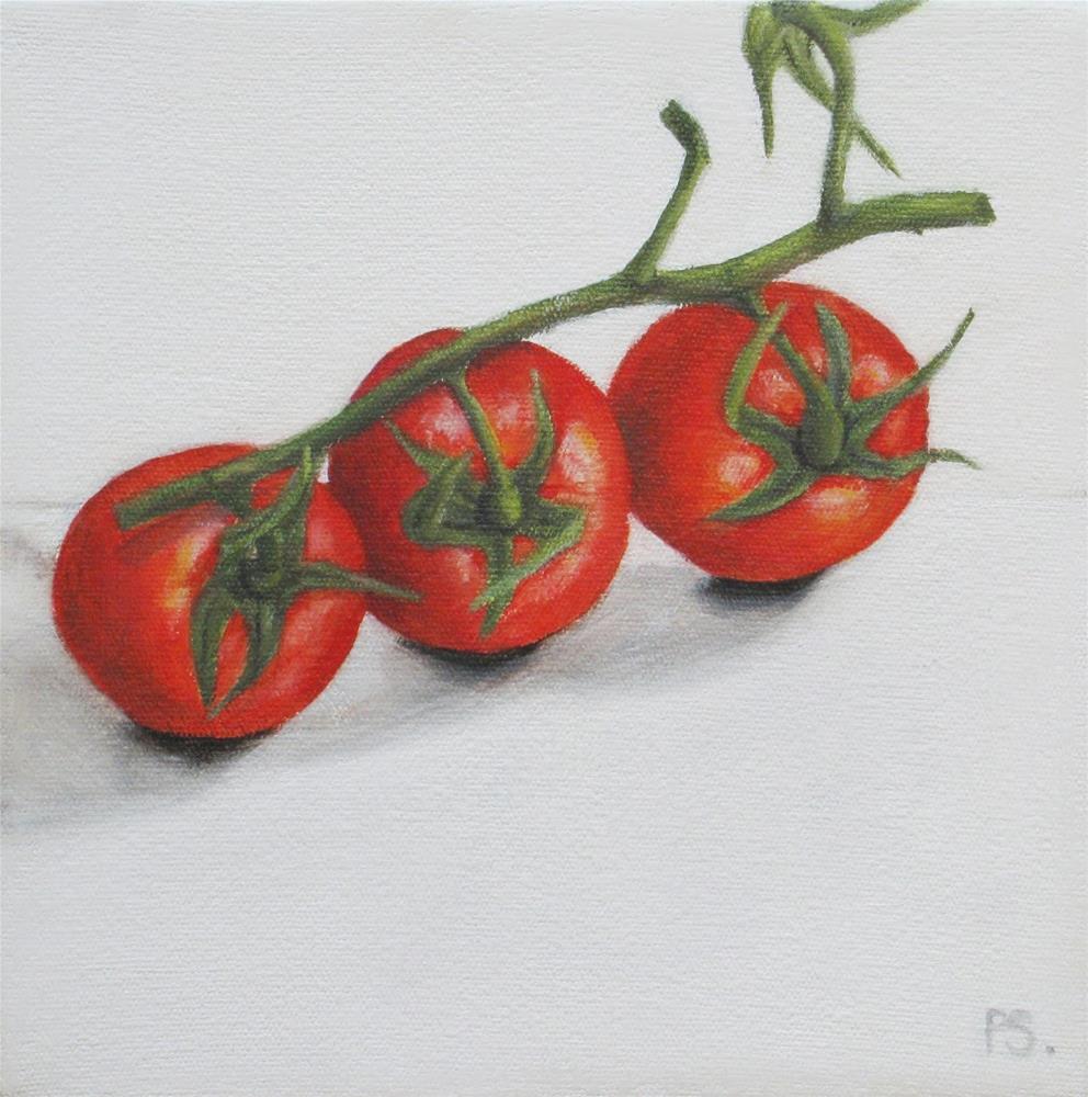 """Cherry Tomatoes I"" original fine art by Pera Schillings"
