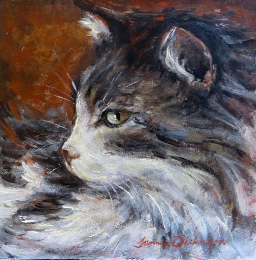 """Charlie Cat"" original fine art by Tammie Dickerson"