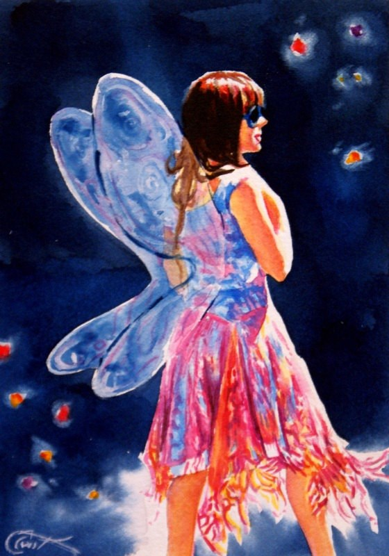 """Midsummer"" original fine art by Crystal Cook"
