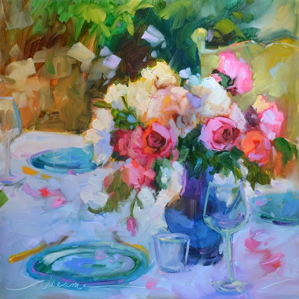 """""""The Heart of Romance and One Thing at a Time"""" original fine art by Dreama Tolle Perry"""