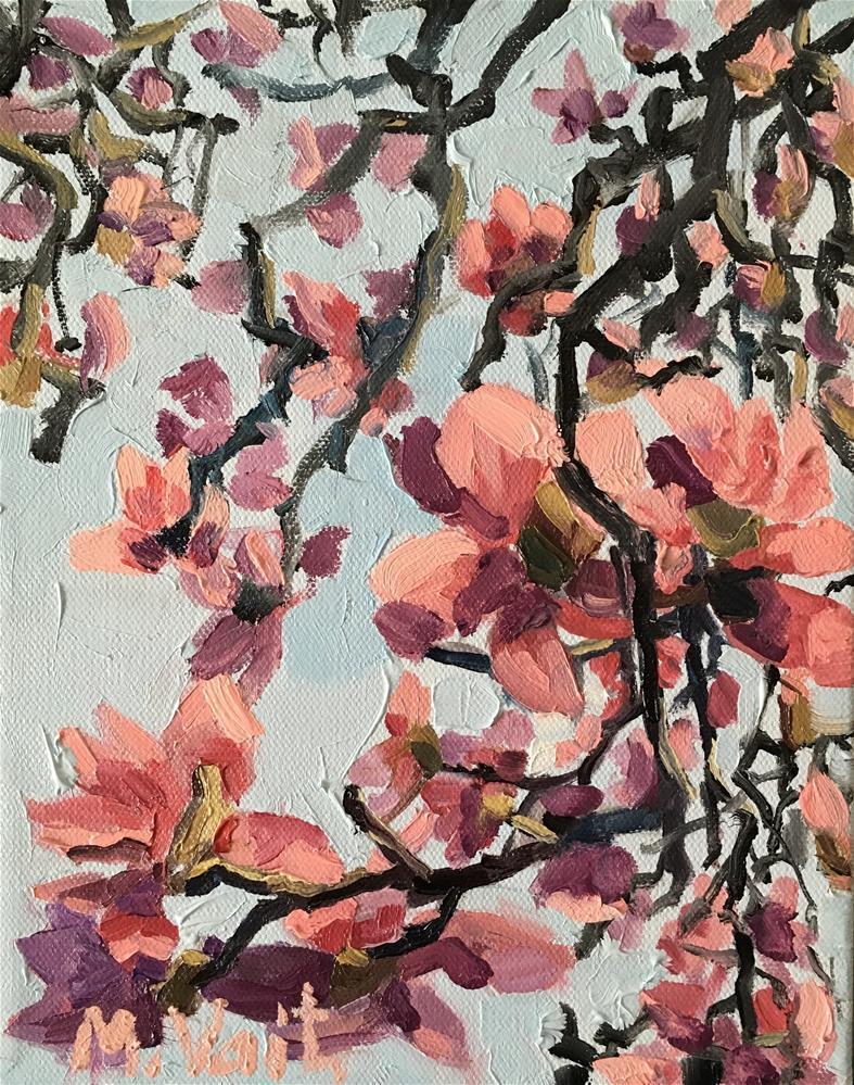 """Magnolia Branch"" original fine art by Milda Vaitiekunaite"