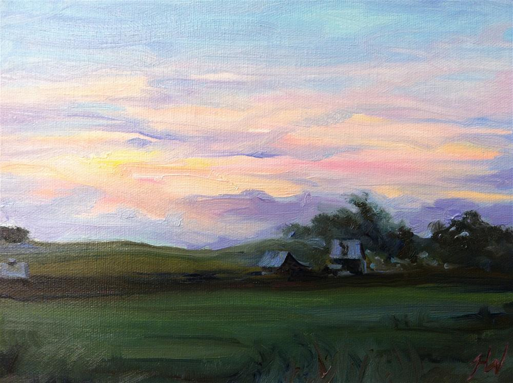 """Midwest Sunset 1"" original fine art by H.F. Wallen"