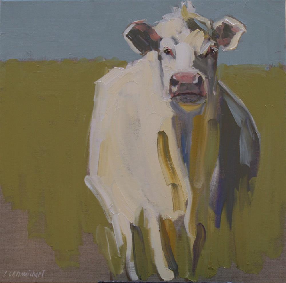 """""""hey cow"""" original fine art by Carol Carmichael"""