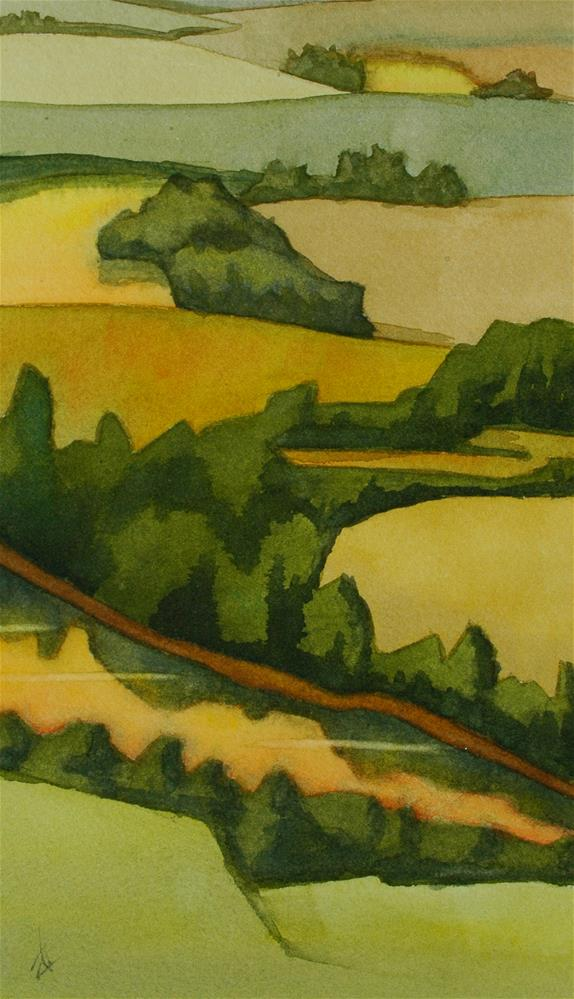 """Willamette Aerial"" original fine art by Mark Allison"