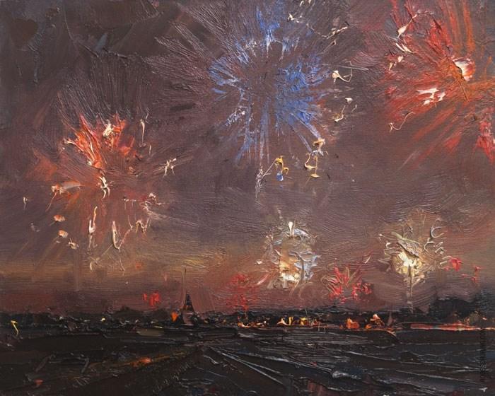 """Happy New Year!"" original fine art by Roos Schuring"