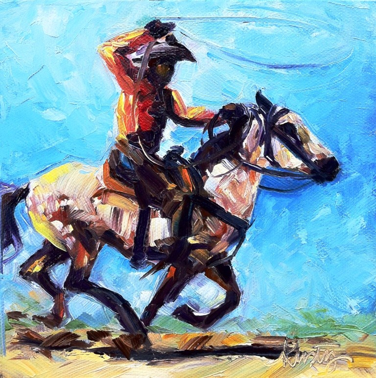 """THE ROPER"" original fine art by Kristy Tracy"