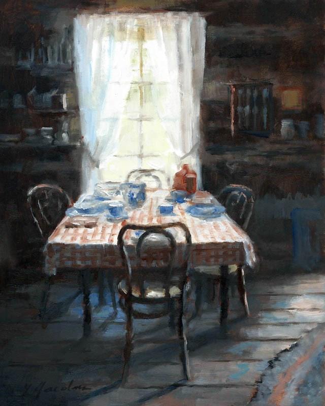 """Supper Light"" original fine art by Linda Jacobus"