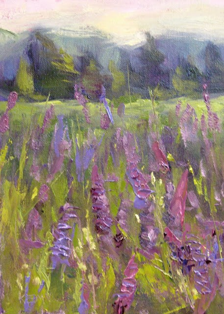 """Among the Lupines Maine Meadow"" original fine art by Karen Margulis"