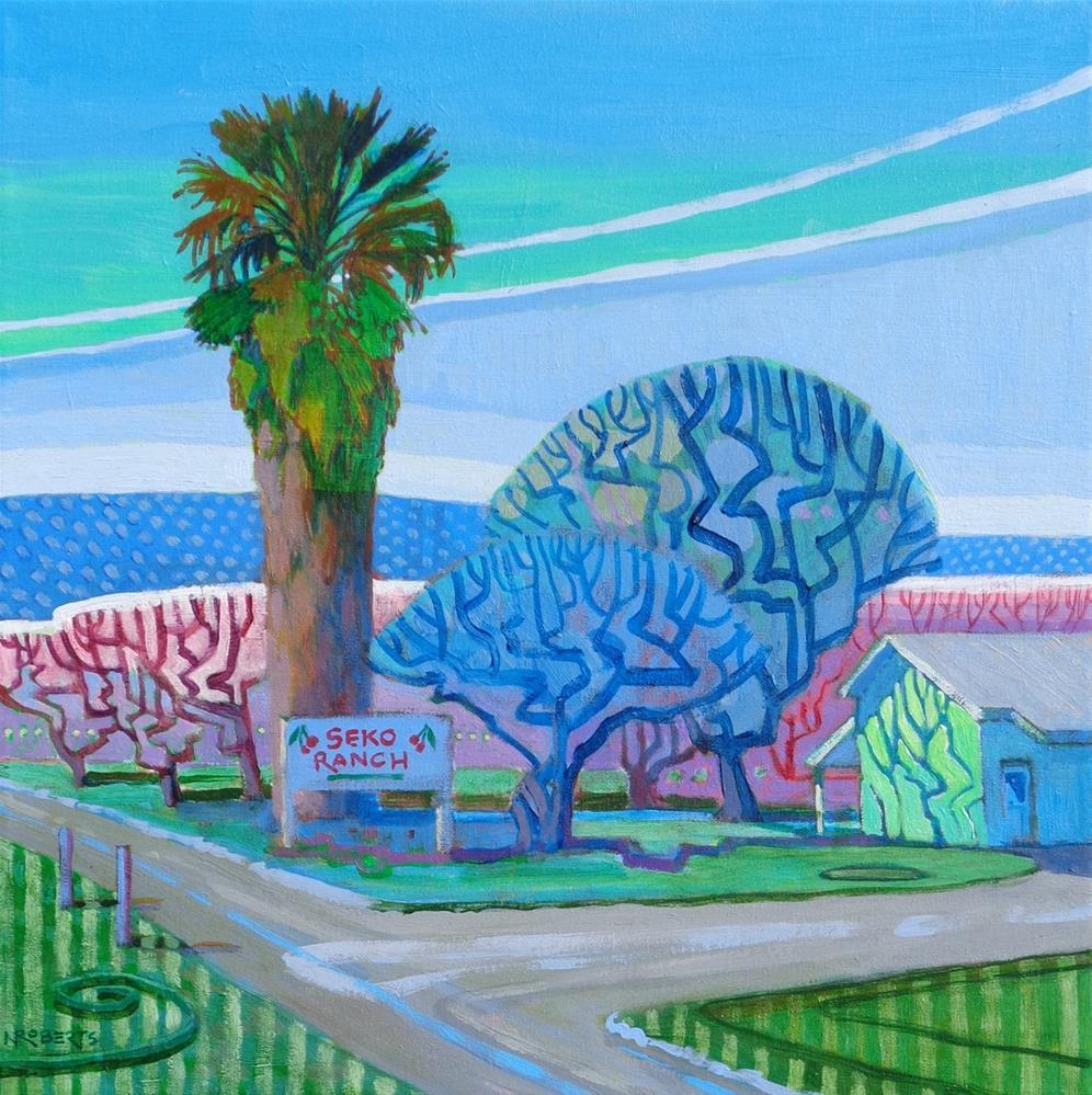 """Seko Ranch, Spring"" original fine art by Nancy Roberts"