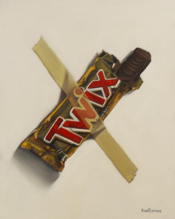 """In Case of Chocolate Emergency 2"" original fine art by Kim Testone"