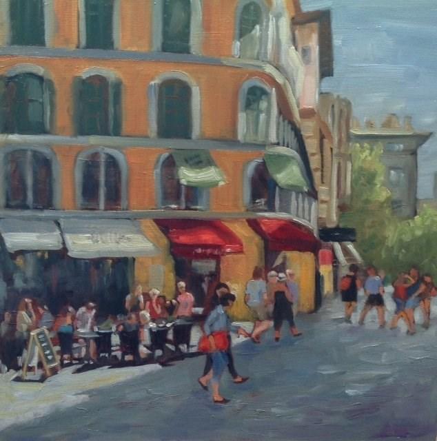 """A Day in Naples"" original fine art by Judy Elias"