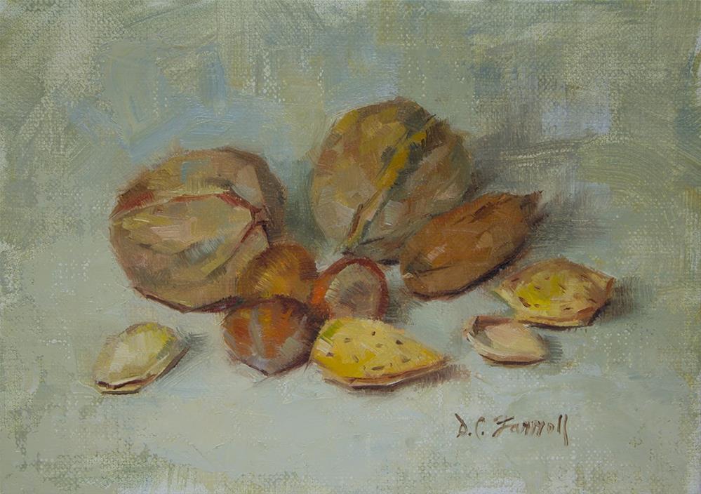 """Mixed Nuts Study"" original fine art by Donna C Farrell"