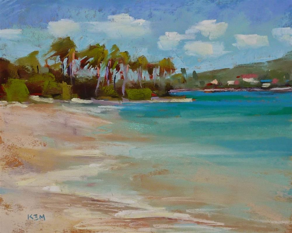 """Caribbean Beach with Turquoise waters"" original fine art by Karen Margulis"