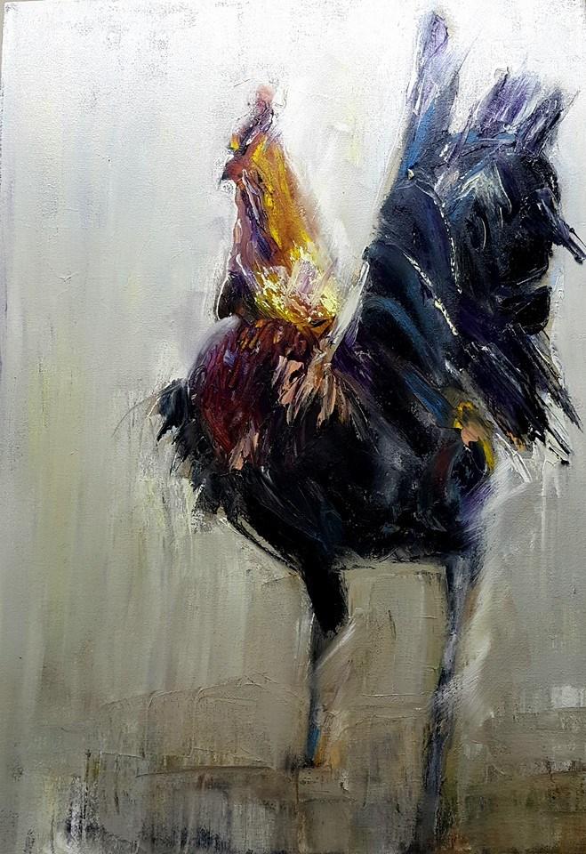 """Show off"" original fine art by Rentia Coetzee"