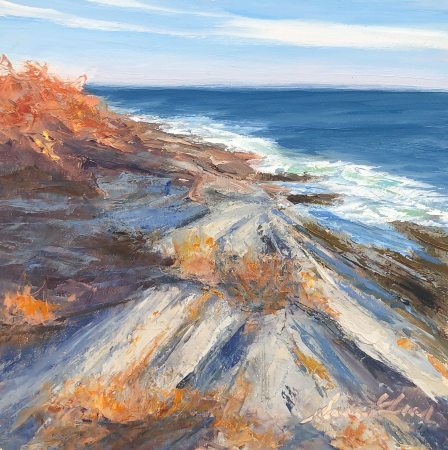 """""""#218 - Afternoon Light-Two Lights State Park, ME"""" original fine art by Sara Gray"""