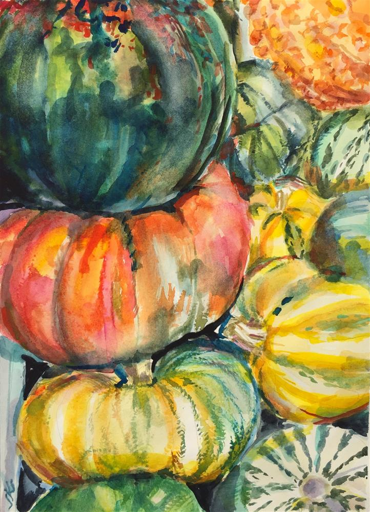 """Squash"" original fine art by Jean Krueger"