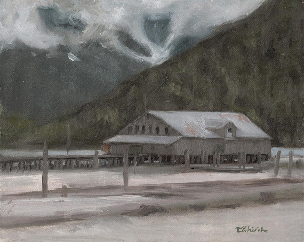 """""""An All Grey Day 8 x 10 oil on panel"""" original fine art by Tahirih Goffic"""
