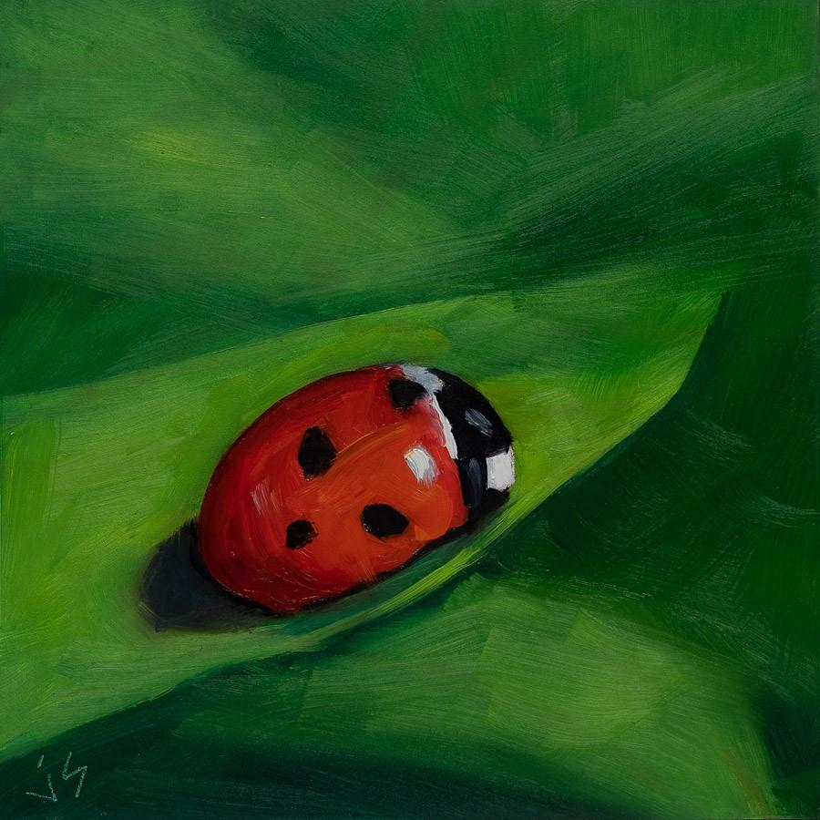 """Lucky Lady #2"" original fine art by Johnna Schelling"