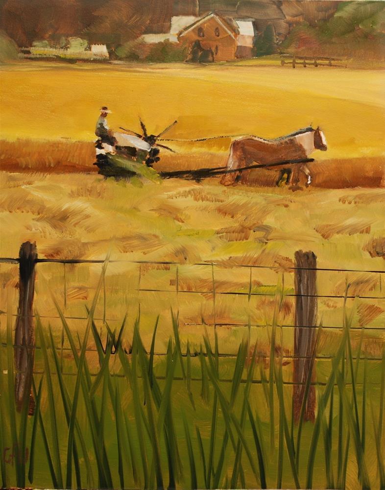 """Cutting Oil"" original fine art by Gary Westlake"