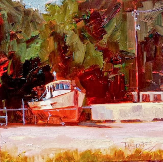 """""""Waiting for Water Port Angeles, plein air painting by Robin Weiss"""" original fine art by Robin Weiss"""