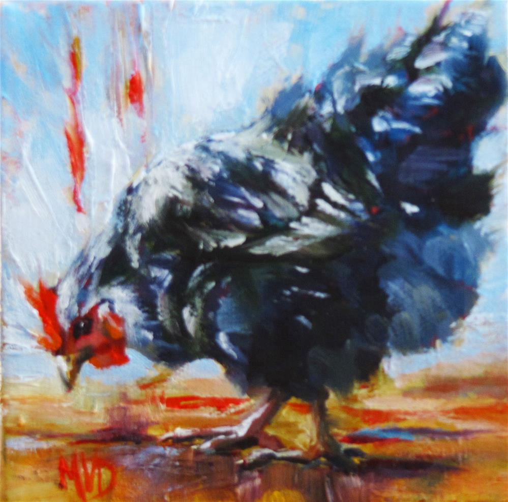"""Peck-a-Little"" original fine art by Mary Van Deman"