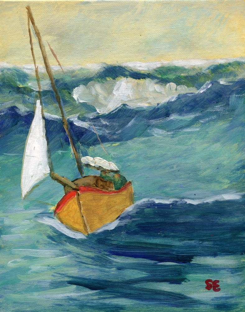 """Storm Sail"" original fine art by Stanley Epperson"