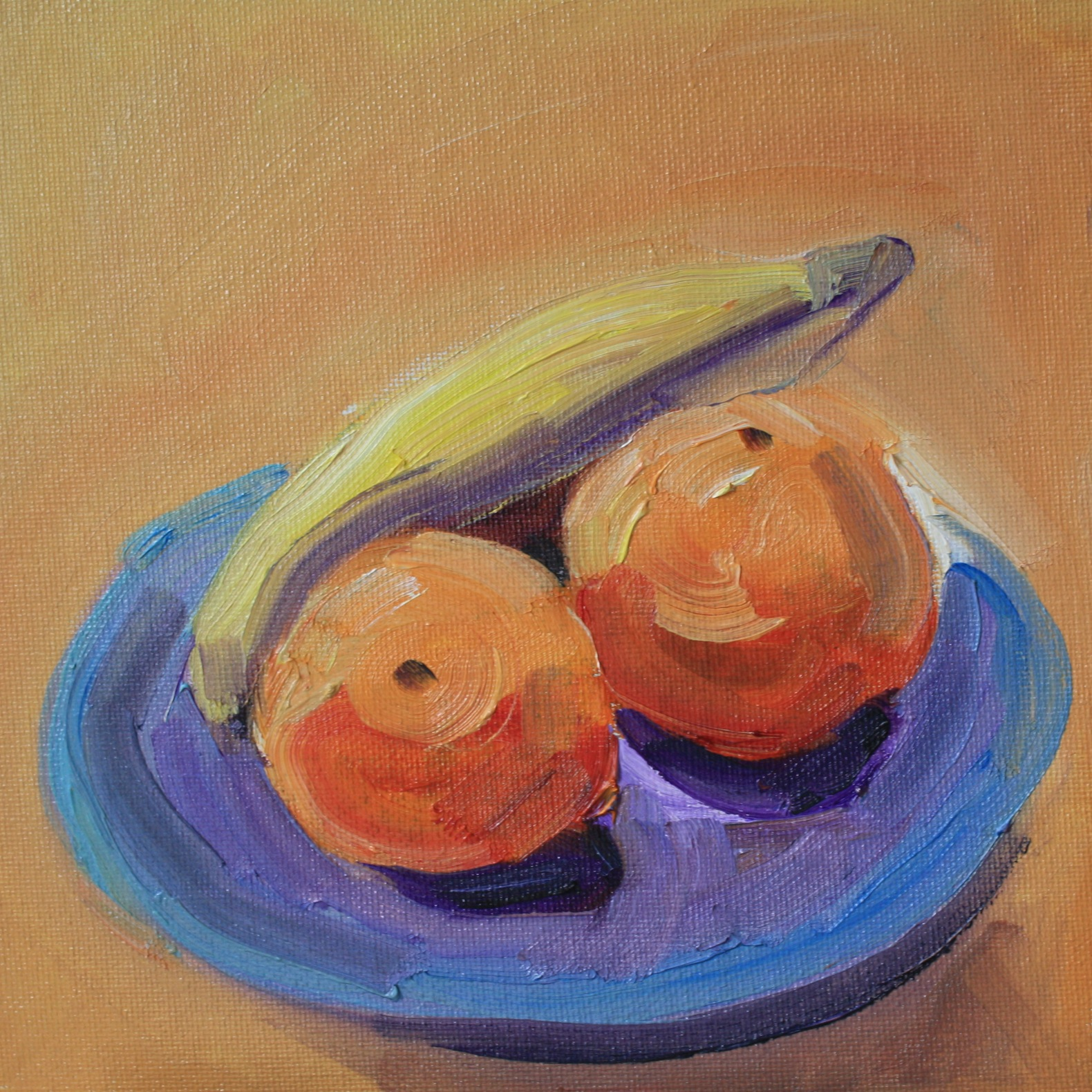 """""""Clementines, Bananas and Freedom"""" original fine art by Maggie Flatley"""