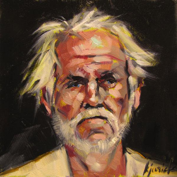 """100 Faces, No. 29"" original fine art by Karin Jurick"