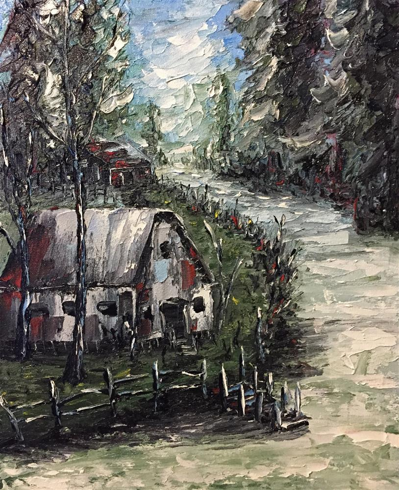 """""""Country Stream"""" original fine art by Ken Fraser"""