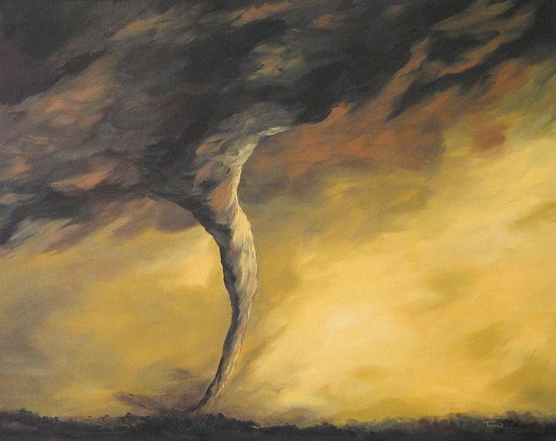 """Kansas Tornado"" original fine art by Torrie Smiley"